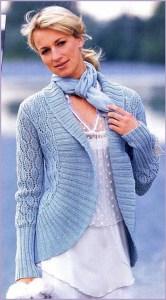 Нежно-голубой жакет