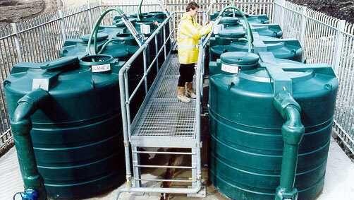 Image of Methane Stripping Plant Tanks