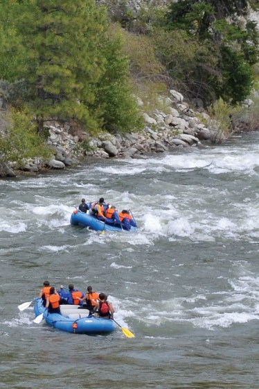 Rafting the Methow River. Photo by Laurelle Walsh