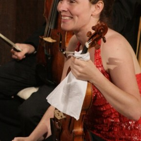 Viola player Mara Gearman is a regular at the Festival.