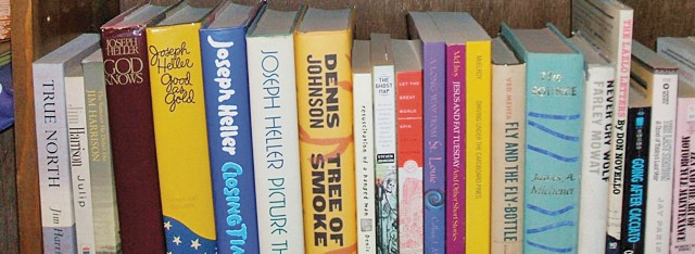Fiction shelfie from a reader.