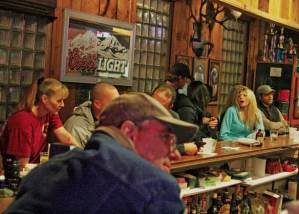 Antlers Saloon and Cafe in Twisp drew a full house on New Year's Eve, its last day in business after nearly a century of operation that generated plenty of good stories. Photo by Marcy Stamper