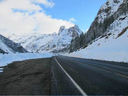 The North Cascades Highway shortly after it re-opened in 2013. File photo by Don Nelson