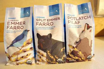 Bluebird's dinner line has new packaging. Photo courtesy Bluebird Grain Farms