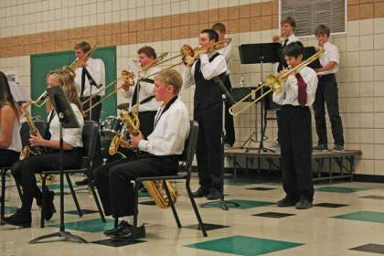 Jazzy fundraiser. The LBHS Jazz Band will perform at Twisp River Pub next Wednesday. File photo by Darla Hussey
