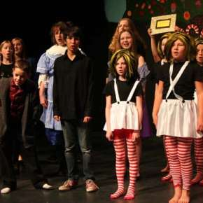 The ensemble cast performs several musical numbers. Photo by Darla Hussey