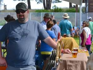 """Blaze Ruud, OSB's former brewmaster, recently hired by hops producer Yakima Chief """"for his nose"""" was on hand. Photos by Laurelle Walsh"""