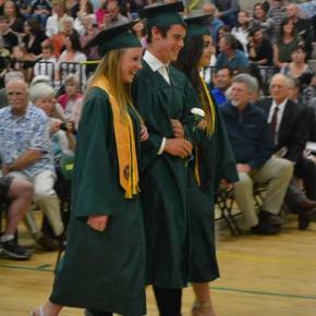 Katherine Tannehill, Milo Holsten and Amalia Webber enjoy the moment. Photo by Laurelle Walsh