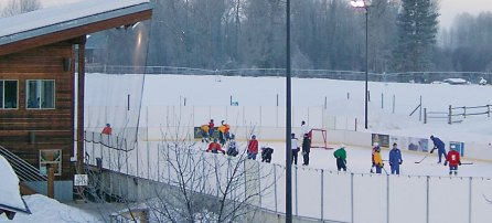 Hockey players will get more ice time at the Winthrop Ice and Sports Rink once fundraising goals are met that will allow installation of a refrigeration system on site. Photo courtesy of Jill Calvert