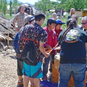 Traditional Native American pit house dedicated at Interpretive Center