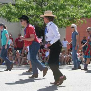 The High Country Kickers provided pre-parade entertainment. Photo by Darla Hussey