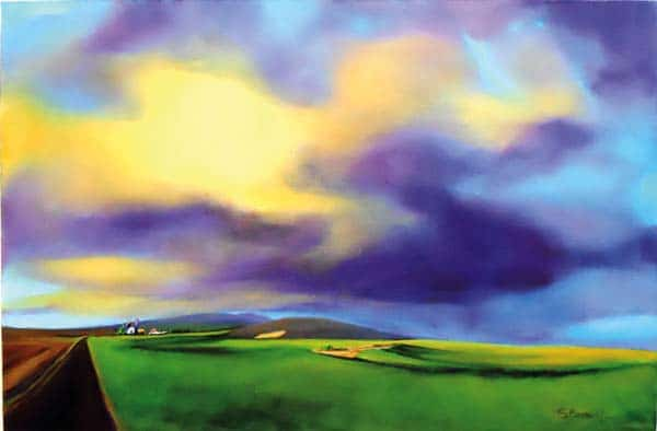 "Photo courtesy of Confluence Gallery ""Summer storm on the Palouse,"" by the late Sue Marracci, is one of the works that will be on display in the Loovre Gallery."
