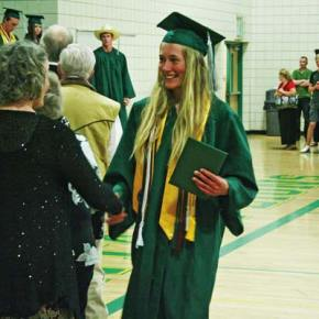 Photo by Darla Hussey LBHS graduate Claire Waichler.