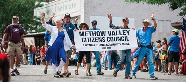 Photo courtesy of Anne Young Members of Methow Valley Citizen's Council marched in this summer's July 4 parade in Twisp.