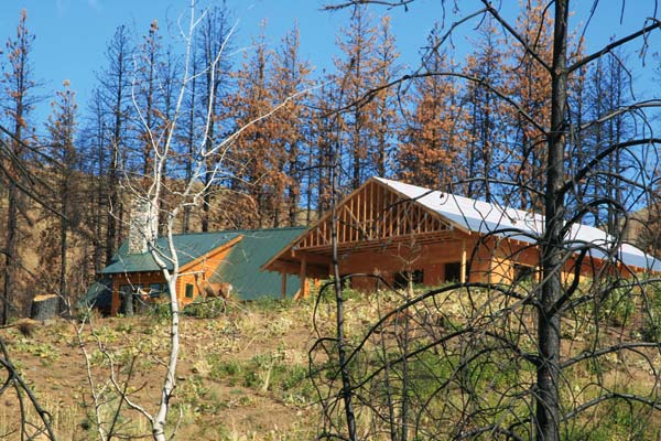 Photo by Marcy Stamper As usual, the Methow Valley accounted for the majority of new construction in the county. Some building activity replaced structures burned by wildfire.