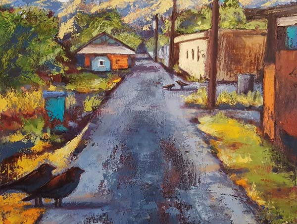 """Photo courtesy of Confluence Gallery Renee Kaup's paining, """"Confluence Alley,"""" will be on display."""