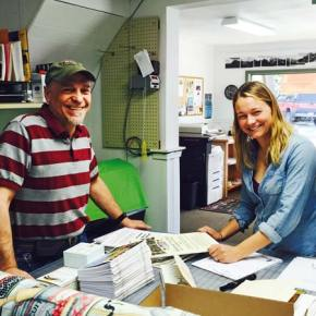 Nelsons take over as new owners at Riverside Printing in Winthrop