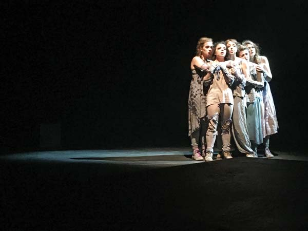 Photo by Reiko Huffman, Seattle University Seattle University students perform in the touring production of The Women of Troy, which will be staged Saturday at The Merc Playhouse.