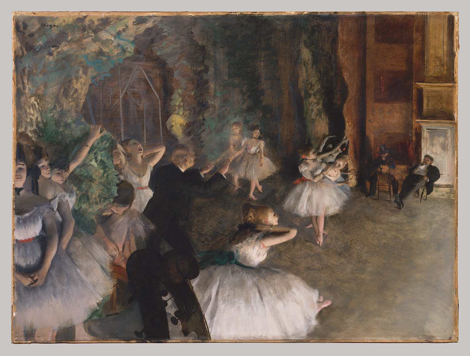 Prova Di Balletto Degas Edgar Degas The Rehearsal Of The Ballet Onstage 29 160