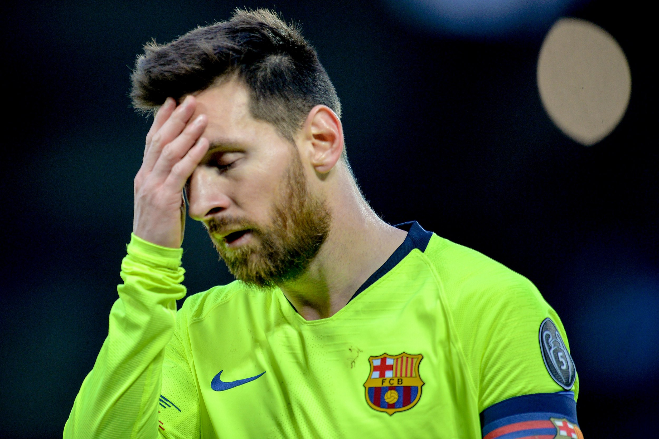 Leo Messi Barcelona Team Bus Leaves Lionel Messi At Anfield After Liverpool
