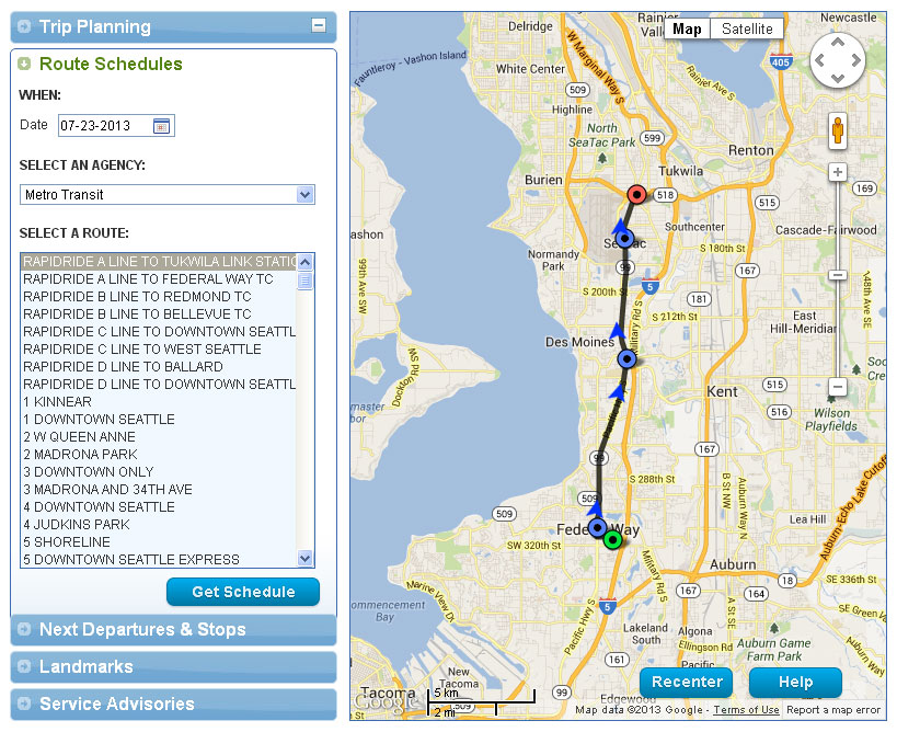 About the New Trip Planner - King County Metro Transit