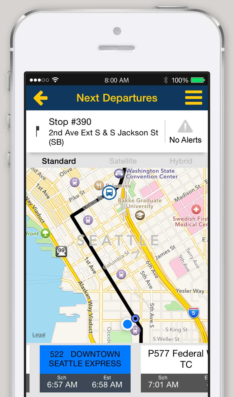 Go Via Trip Planner Iphone And Android App Trip Planner King County Metro