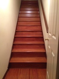 AFTER PIC - Hardwood Staircase Installation Cherry Atlanta Ga