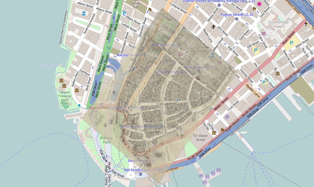 Castello Plan Map Of Nyc 1660