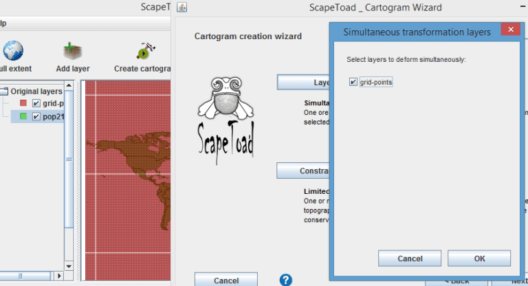 cartogram deformation grid scapetoad