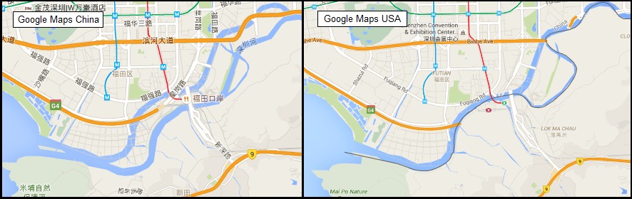 There is Only 1 Shenzhen River, So Why Does Google Maps Show ...