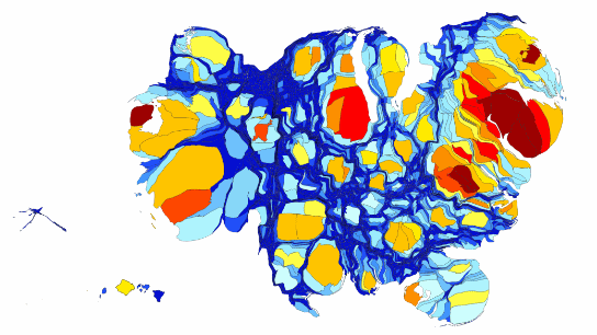 cartogram us gdp