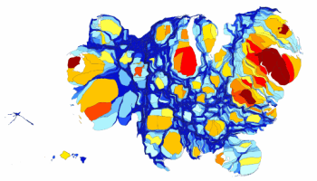 Visualizing Americas Middle Class Squeeze Metrocosm - Us gdp concentration map