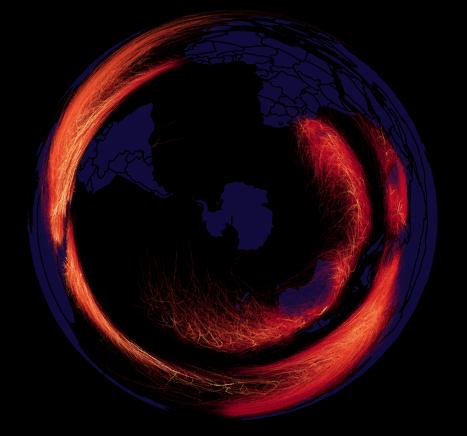 hurricane map southern hemisphere