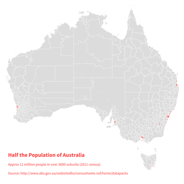 How So Much Of The World Occupies So Little Of Its Land Metrocosm - Us map population proportion to smallest state grid