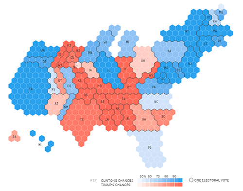 Election Results In The Third Dimension Metrocosm - 2016 us election results map regional