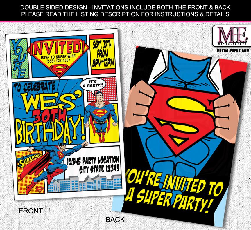 super hero invitations - Vatozatozdevelopment