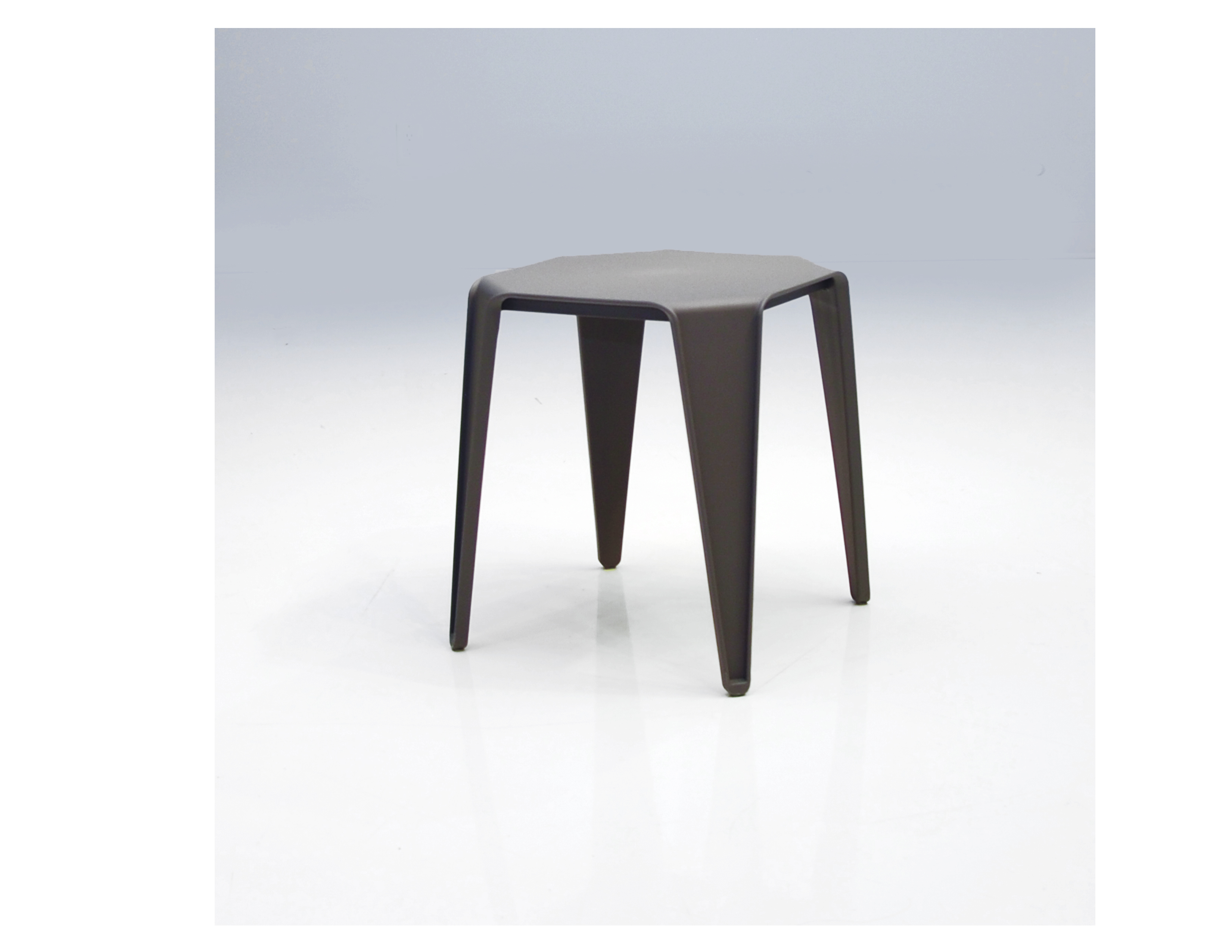 Table Polypropylène Yatta End Table Grey Polypropylene Set Of 4