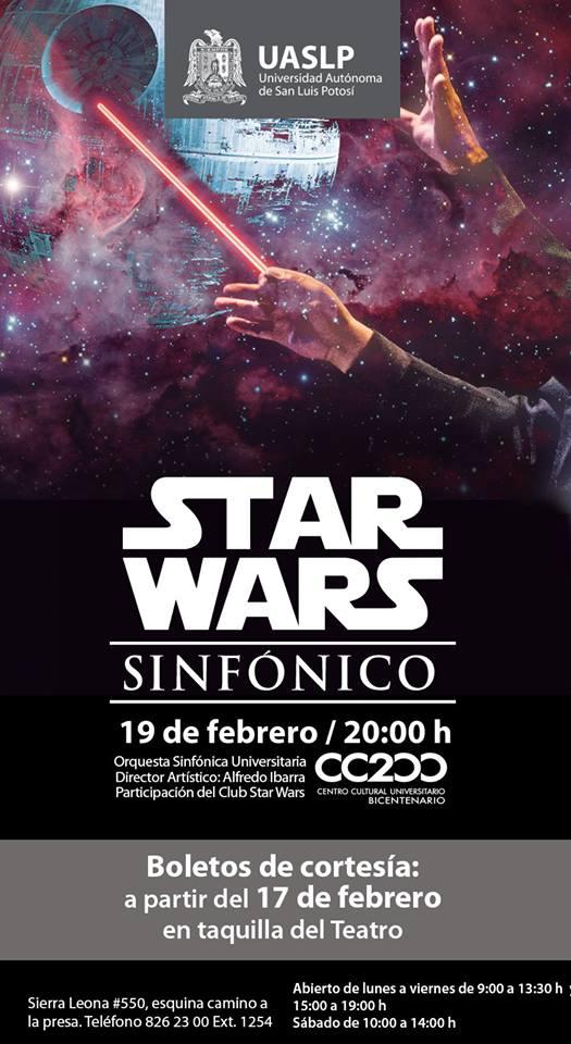 """Concierto """"Star Wars Sinfónico"""" @ Centro Cultural Universitario Bicentenario"""