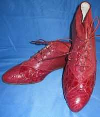 Aligator/Snake Leather Red Dress shoes