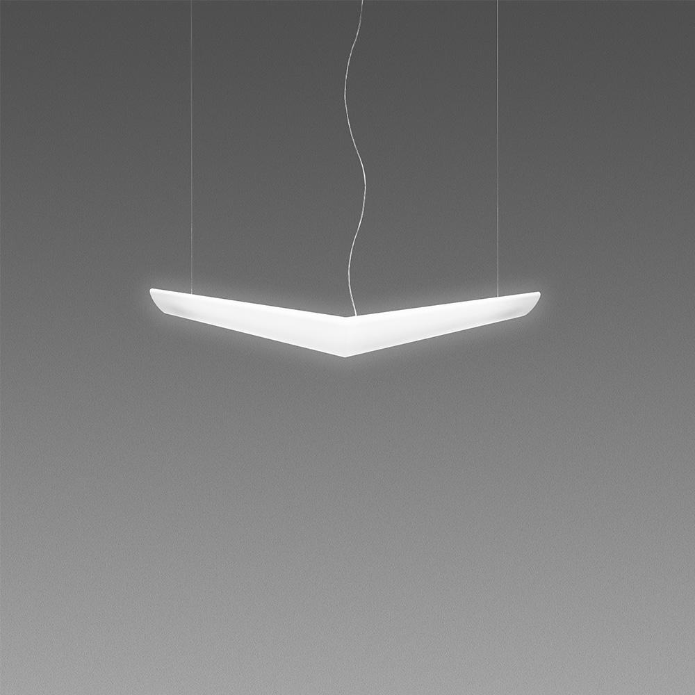 Artemide Suspension Artemide Mouette Symmetrical Suspension 24w Metropolitandecor