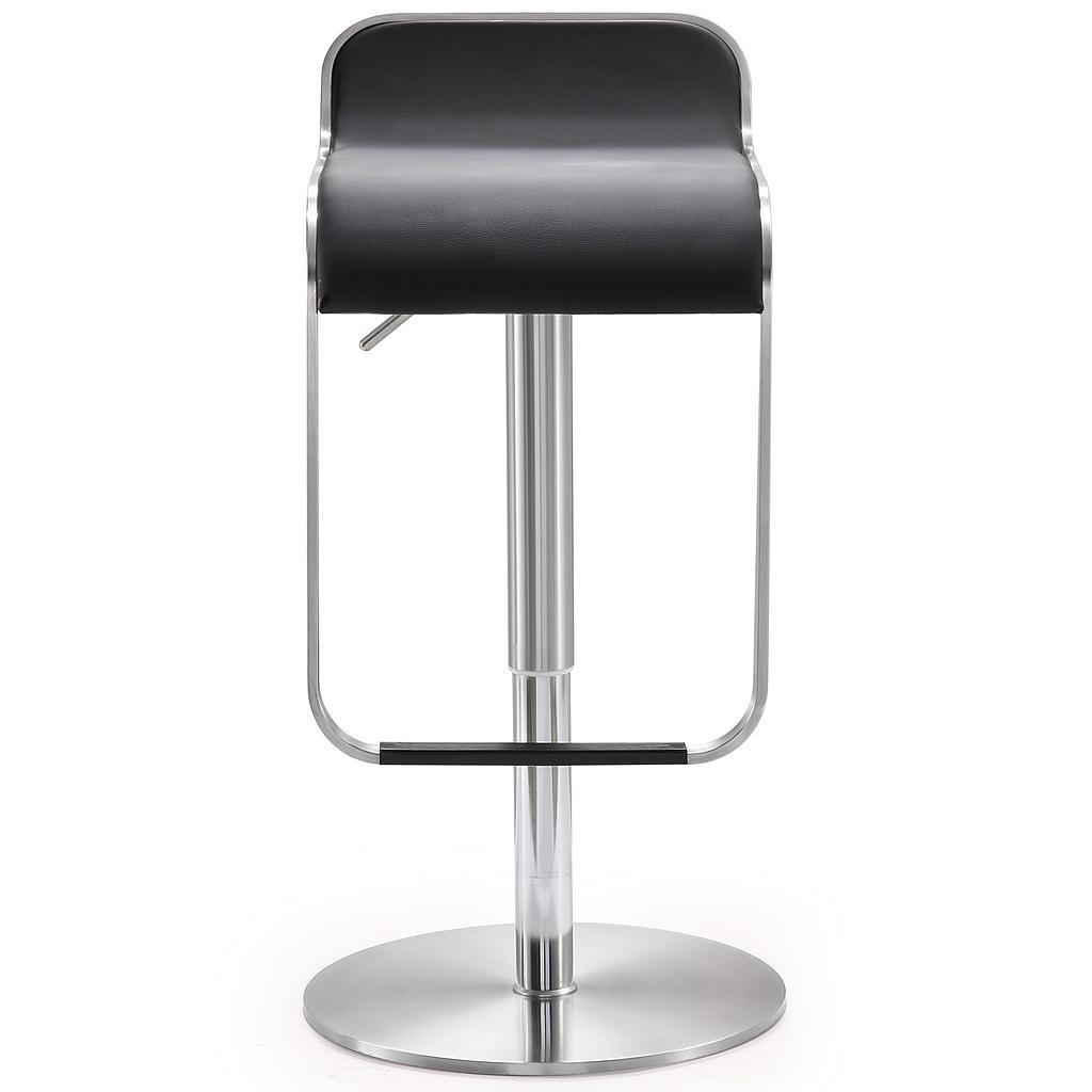 Stainless Bar Stools Napoli Black Stainless Steel Barstool Tov Furniture