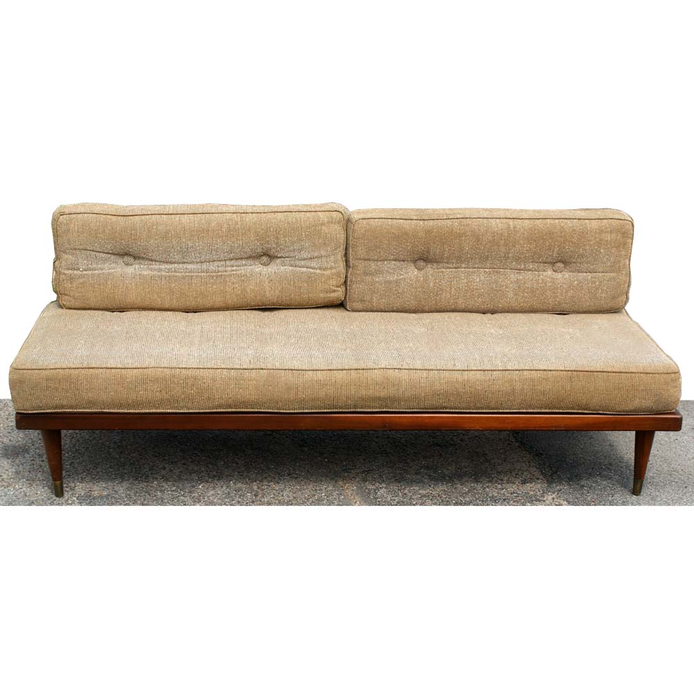 Retro Sofa Wood Midcentury Retro Style Modern Architectural Vintage Furniture From