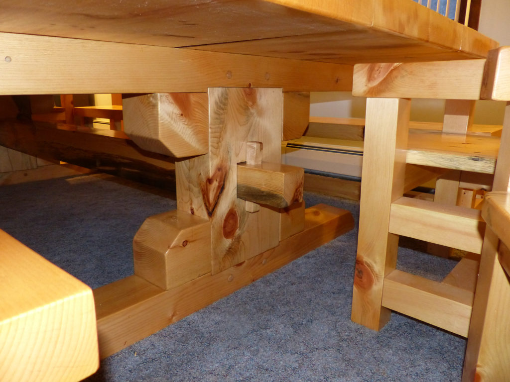 Timber Table Legs Timber Frame Table Legs Metsami Creations