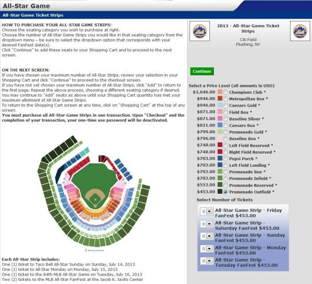 mets citi field all star game ticket prices