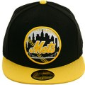 black and yellow mets cap