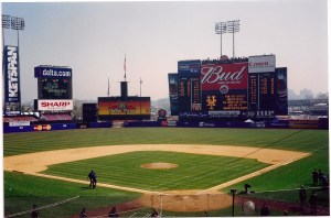 2001 Mets Opening Day Outfield