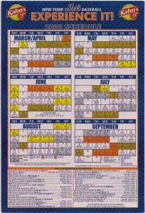 2003 Mets Magnetic Schedule