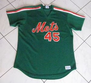 mark carreon mets st. patrick's day jersey circa 1990