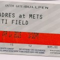 2013 Mets Opening Day ticket