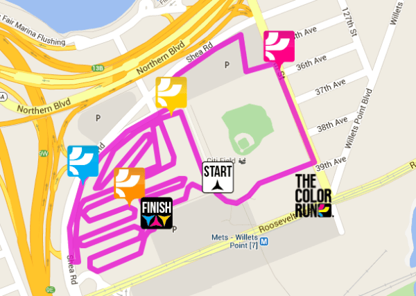 citi field color run map
